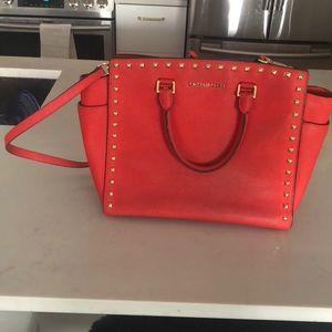 Michael Kors large studded handbag